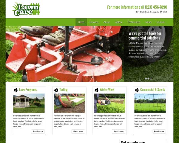 Lawn Care WordPress Theme