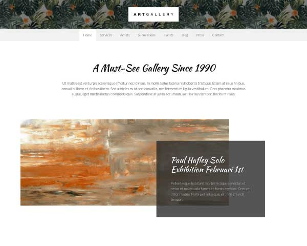 Kunstgalerij WordPress Theme thumbnail