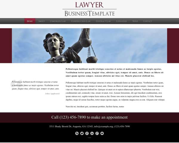 Law Firm WordPress Theme thumbnail