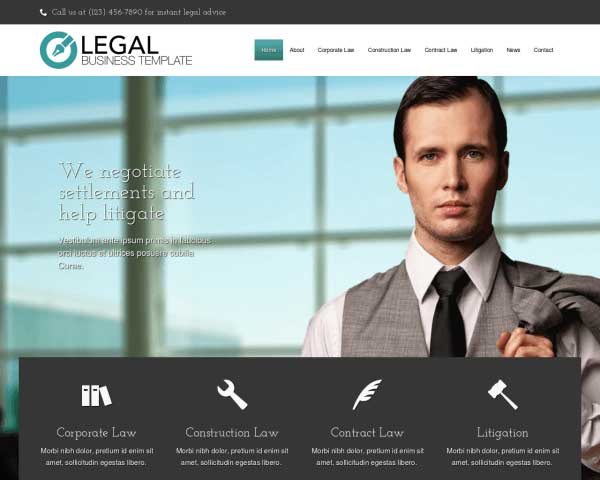Legal WordPress Theme thumbnail