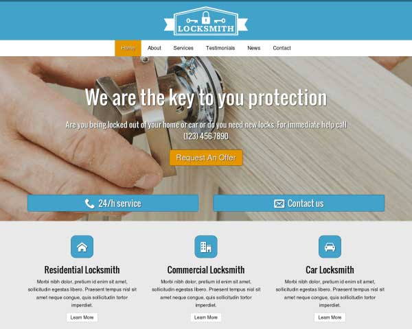 Home Security WordPress Theme thumbnail