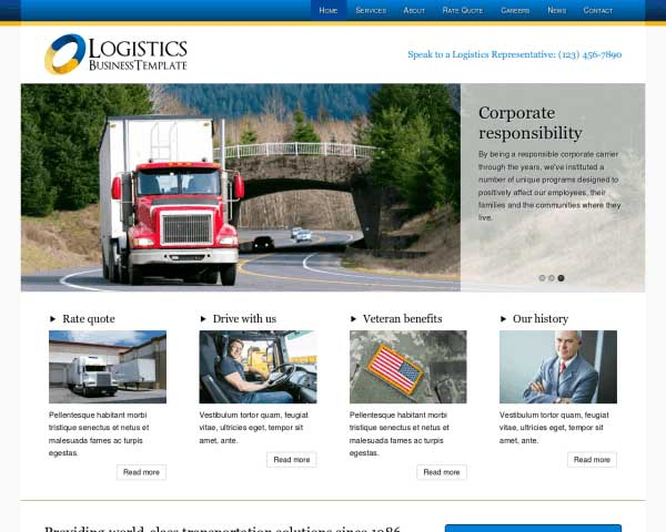 Logistics WordPress Theme thumbnail