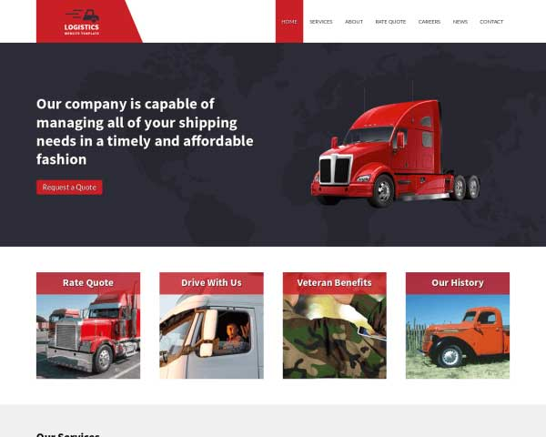 Logistiek WordPress Theme thumbnail