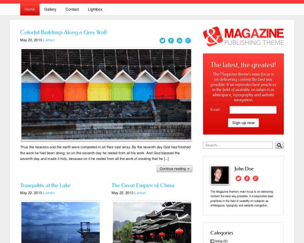 Magazine WordPress Theme thumbnail