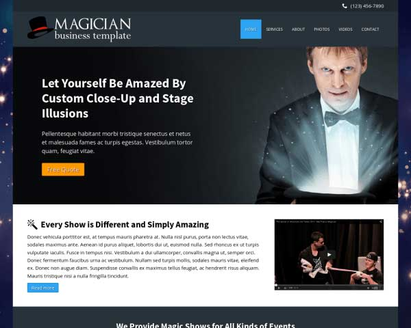 Magician WordPress Theme thumbnail