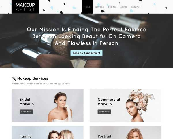 Makeup Artist WordPress Theme thumbnail