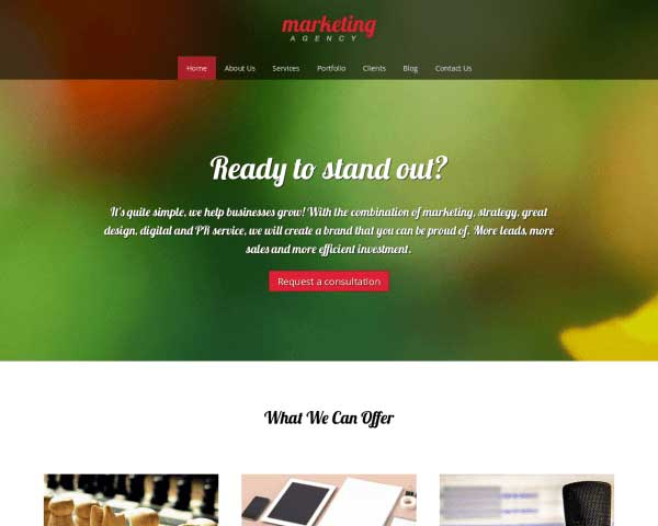 Marketingbureau WordPress Theme thumbnail