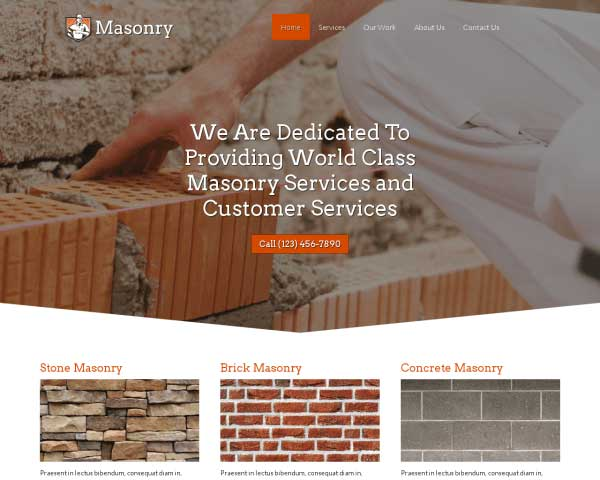 Metselwerk WordPress Theme thumbnail