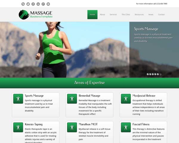 Massage WordPress Theme thumbnail