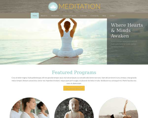Meditation WordPress Theme thumbnail