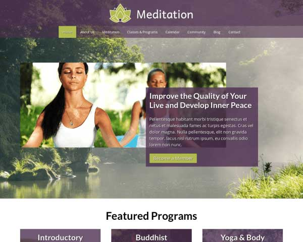 Meditatie WordPress Theme thumbnail
