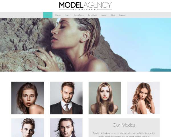 Modellenbureau WordPress Theme thumbnail