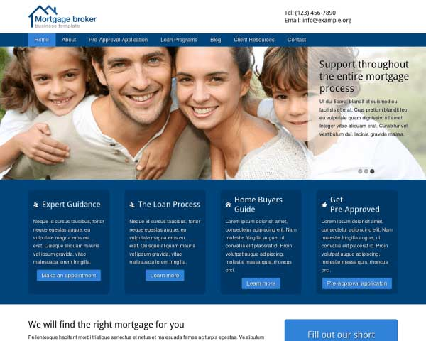 Mortgage Broker WordPress Theme thumbnail
