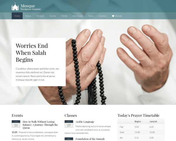 Mosque WordPress Theme thumbnail