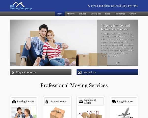 Moving Company WordPress Theme thumbnail