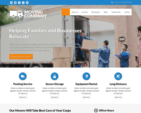Movers WordPress Theme thumbnail