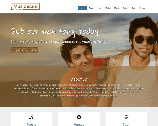 Musiekband WordPress Theme thumbnail