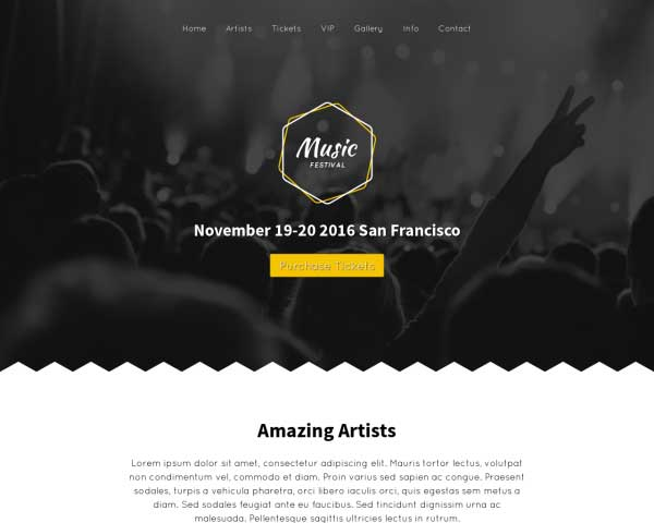 Musiekfestival WordPress Theme thumbnail
