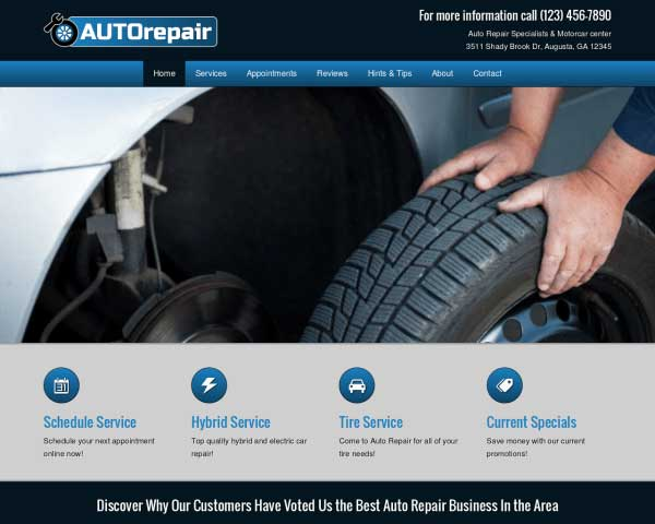 Auto Reparatie WordPress Theme thumbnail