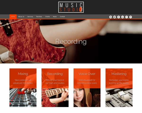 Musiekstudio WordPress Theme thumbnail