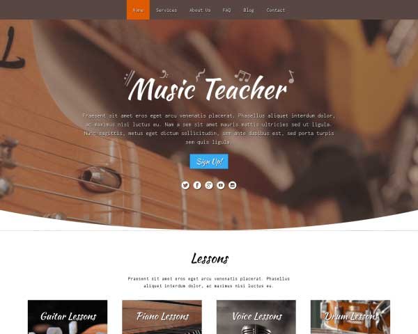 Music Teacher WordPress Theme thumbnail