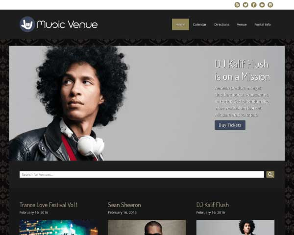 Music Venue WordPress Theme thumbnail