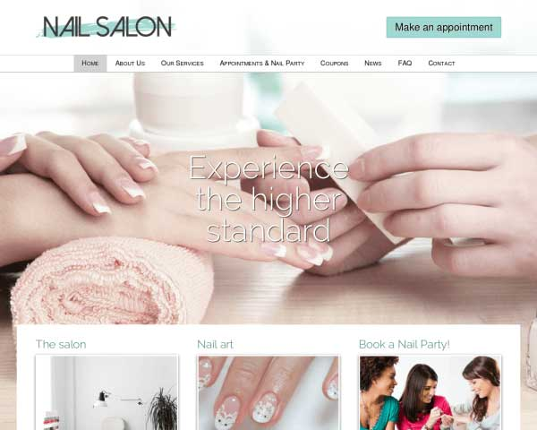 Nail Salon WordPress Theme thumbnail