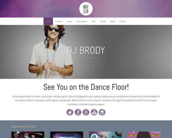 Nightclub WordPress Theme thumbnail