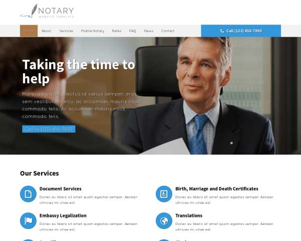 Notaris WordPress Theme thumbnail