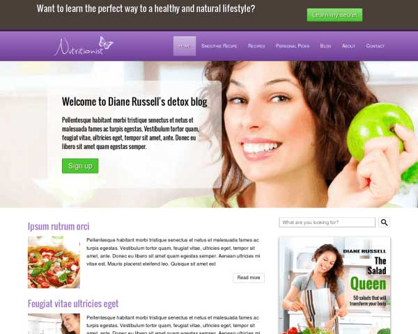Nutrition WordPress Theme thumbnail
