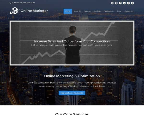 Online Marketing WordPress Theme thumbnail
