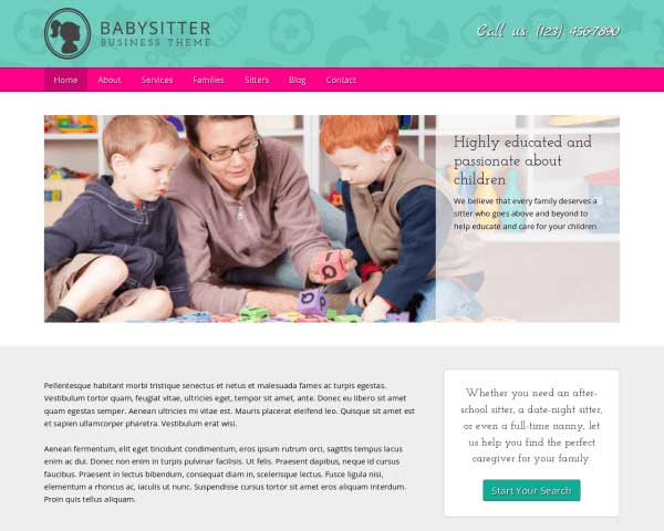 Babysitter WordPress Theme thumbnail