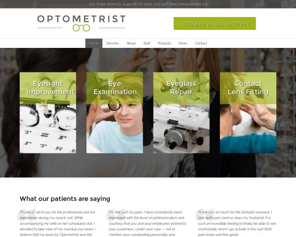 Opticien WordPress Theme thumbnail