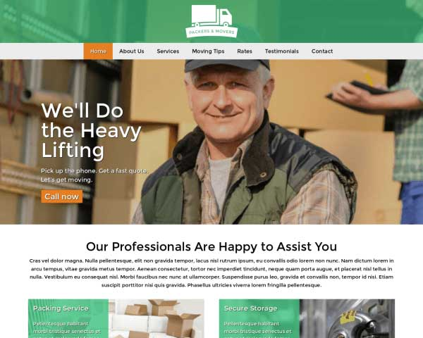 Packers And Movers WordPress Theme thumbnail