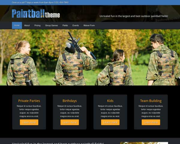 Paintball WordPress Theme thumbnail