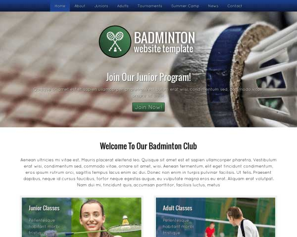 Badminton WordPress Theme thumbnail