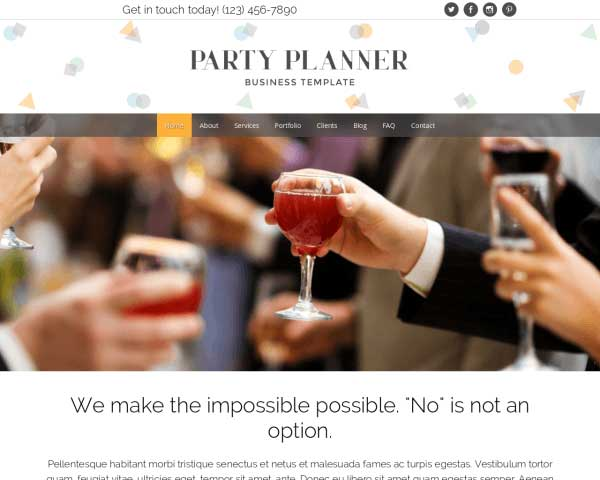 Partyplanner WordPress Theme thumbnail