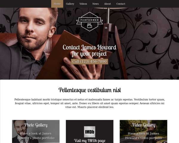 Performer WordPress Theme thumbnail