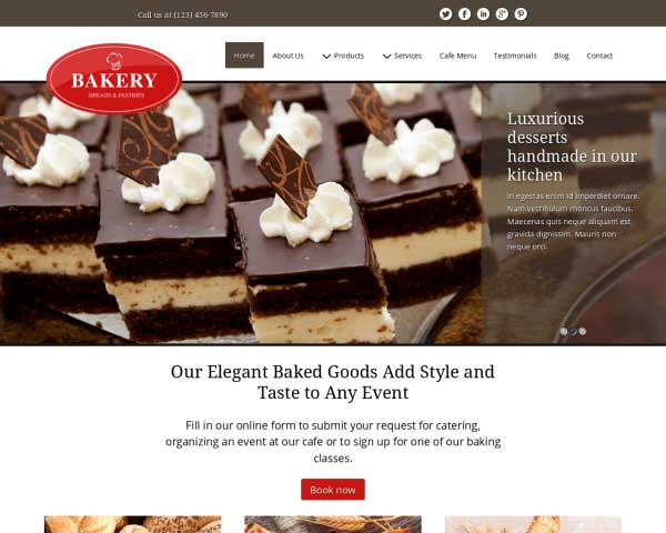 Bakery WordPress Theme thumbnail