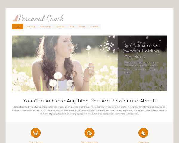Personal Coach WordPress Theme thumbnail