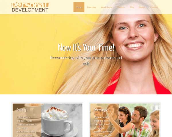 Personal Development WordPress Theme thumbnail