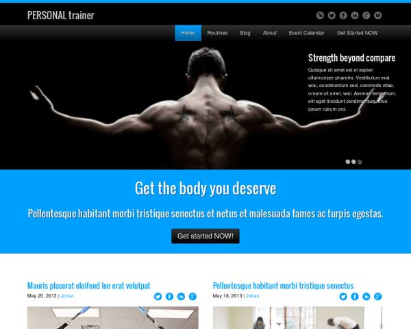 Personal Trainer WordPress Theme thumbnail