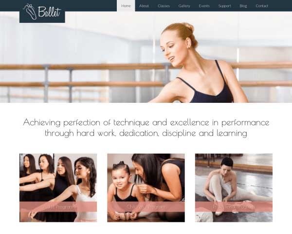 Ballet WordPress Theme thumbnail