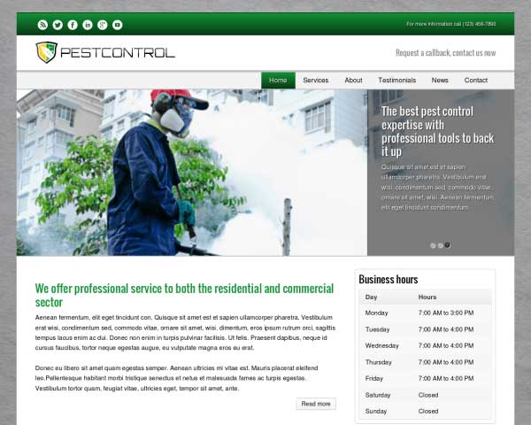 Pest Control WordPress Theme thumbnail