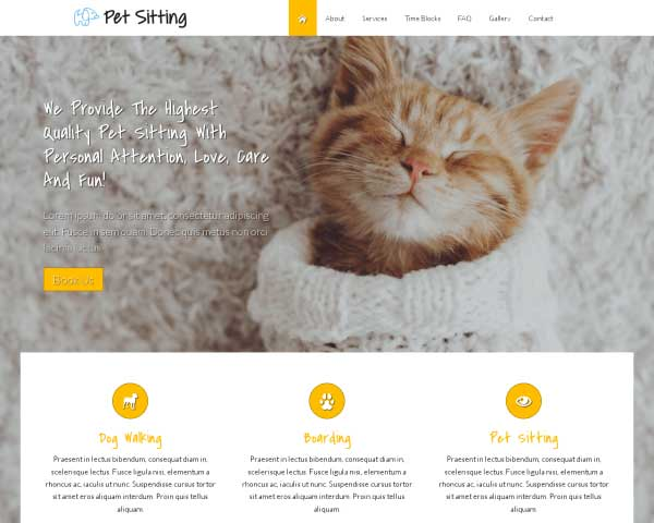 Pet Sitting WordPress Theme thumbnail