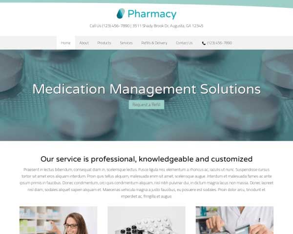 Pharmacy WordPress Theme thumbnail