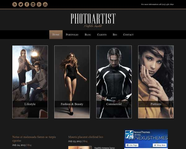 Photoartist WordPress Theme thumbnail