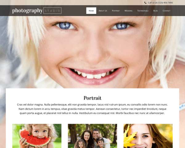 Photography Studio WordPress Theme thumbnail