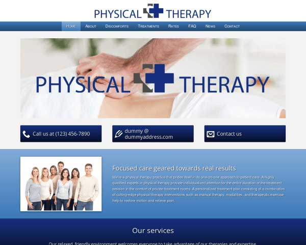 Fysiotherapie WordPress Theme thumbnail