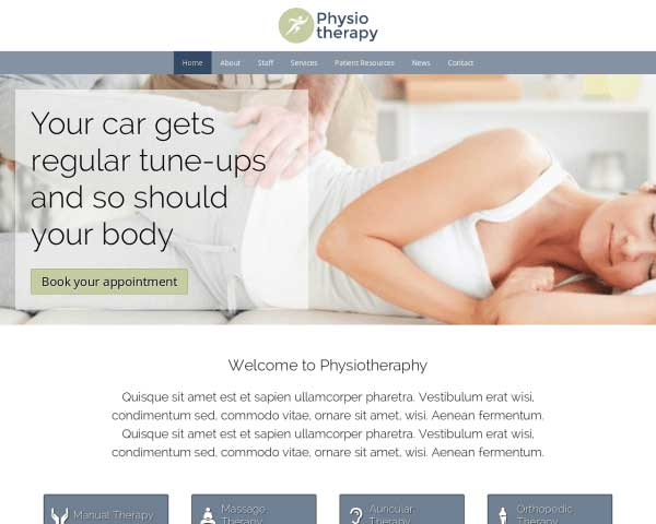 Physiotherapy WordPress Theme thumbnail